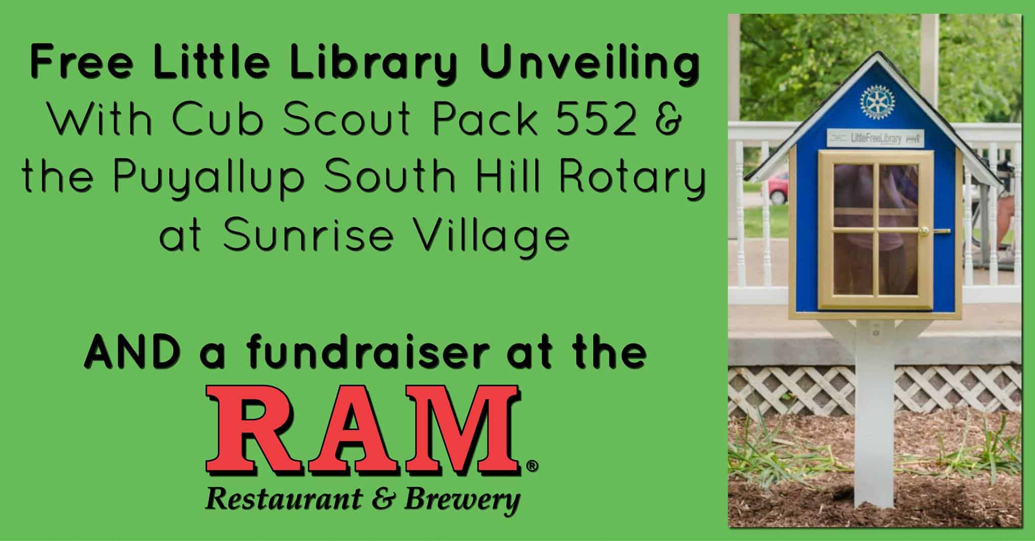 Free Little Library Unveiling Event, Puyallup Sunrise Village